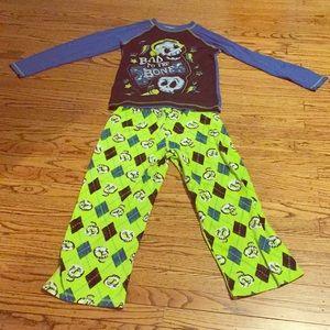 Other - Bad to the bone jammies fleece pants cotton shirt